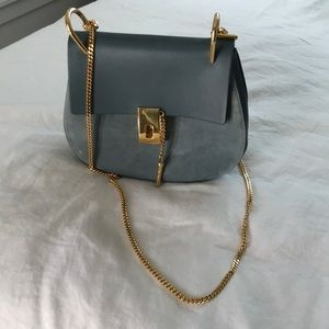 Chloe large Drew bag leather and suede